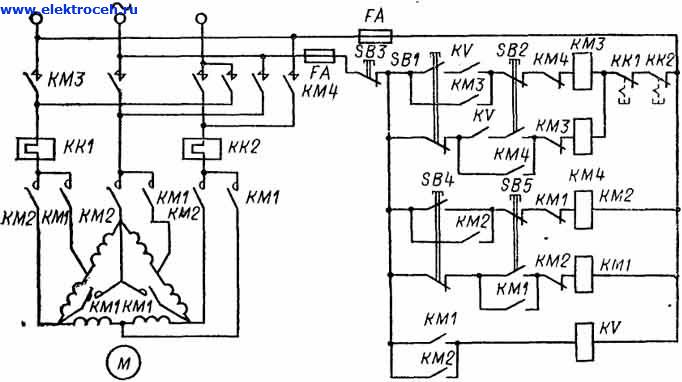 Схема двухскоростного двигателя